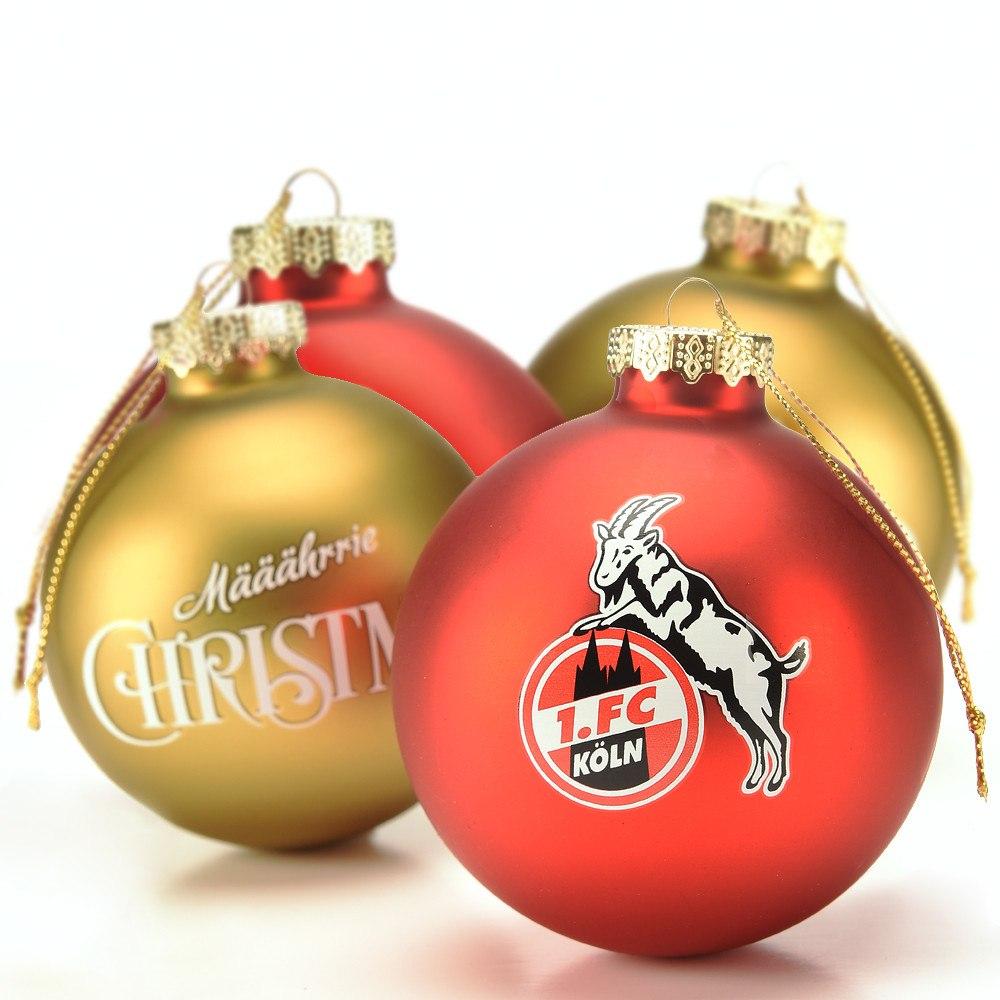 Weihnachtskugeln Rot Gold.Weihnachtskugeln 4er Set Gold