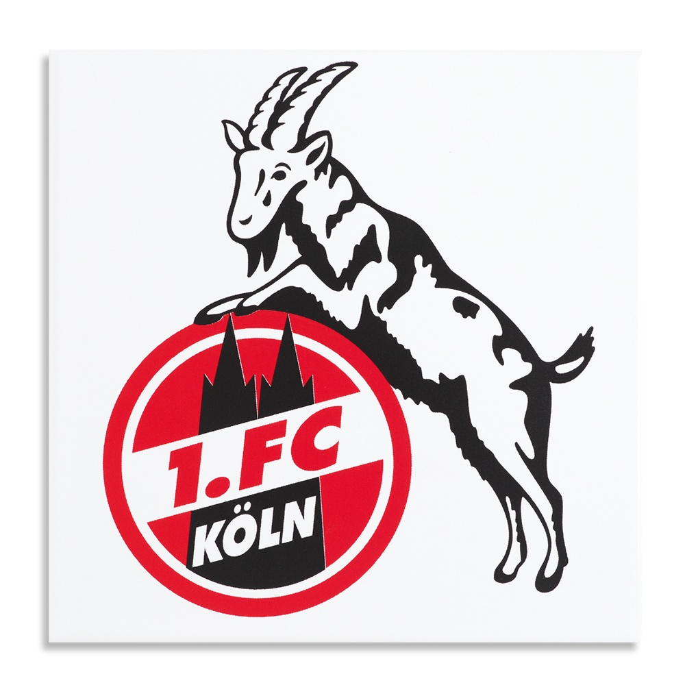1 FC K/öln Gei/ßbock Hennes Lampe wei/ß
