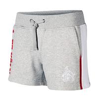 Hotpants grau/weiß (1)