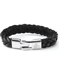 Armband Herren schwarz silber (1)