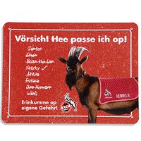 """Blechschild """"Hennes IX"""" (1)"""