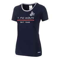 Frauen Sportswear T-Shirt marine rot (1)