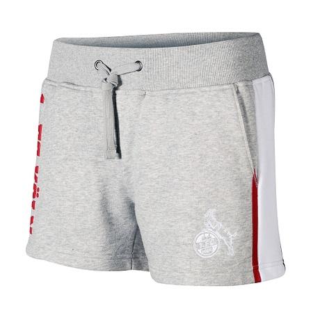 Hotpants grau/weiß