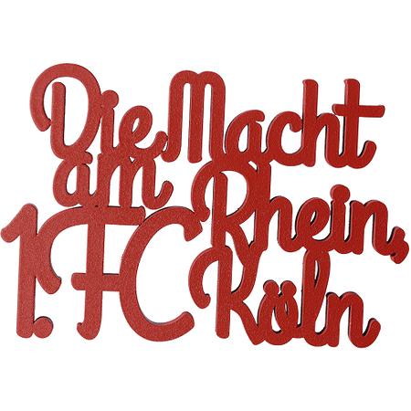 """Holzschriftzug """"Die Macht am Rhein"""""""