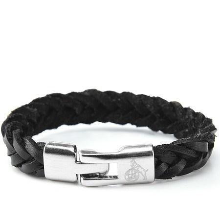 Armband Herren schwarz silber