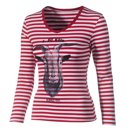 Damen T-Shirt Ringelhennes