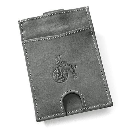 Slim Leder-Geldbörse mit Münzfach