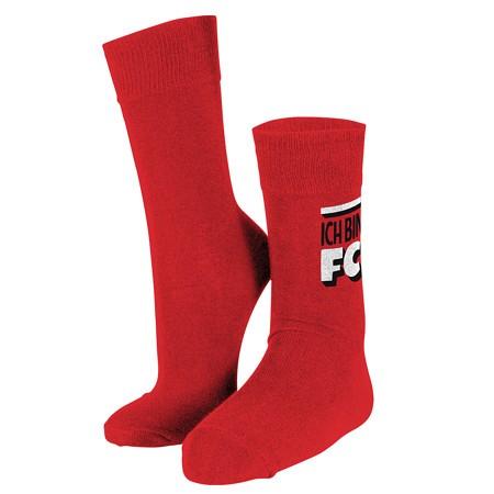 """Socken rot """"Ich Bin"""""""