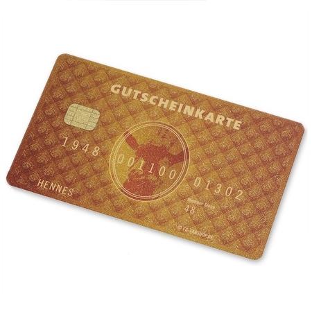 """Gutscheinkarte """"Scheckkarte gold"""""""