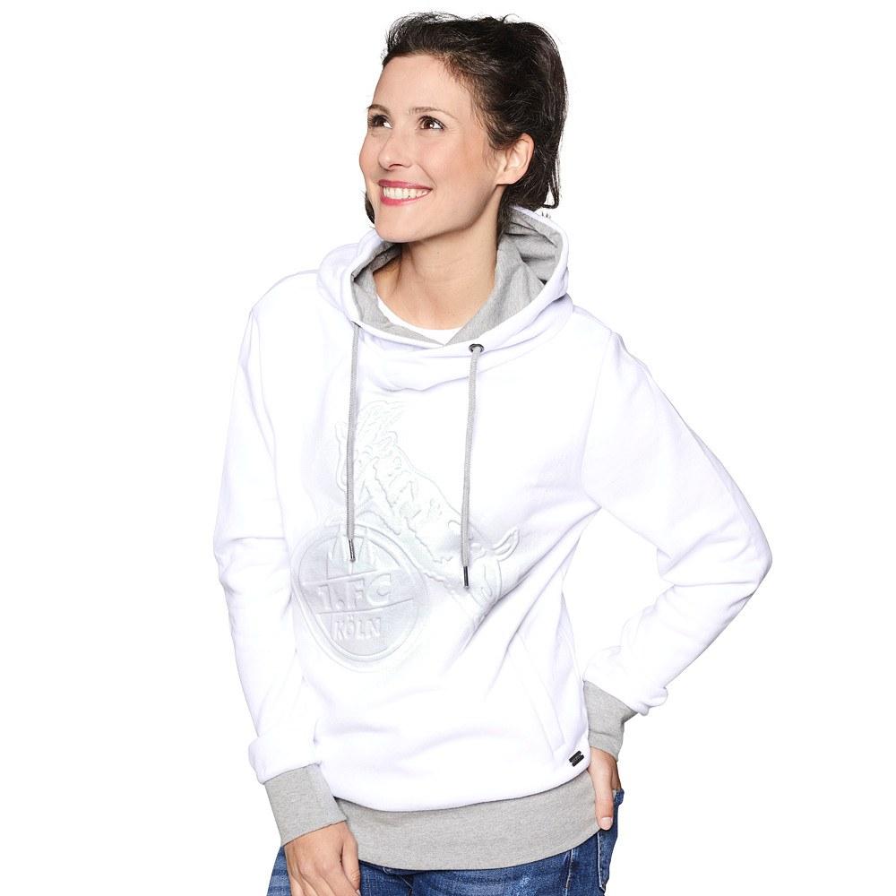 damen hoodie wei er str frauen sweatshirts jetzt im fanshop bestellen. Black Bedroom Furniture Sets. Home Design Ideas