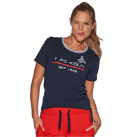 Frauen Sportswear T-Shirt marine rot (2)