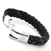 Armband Herren schwarz silber (3)