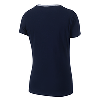 Frauen Sportswear T-Shirt marine rot (3)