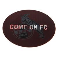 "Lenticular Aufkleber ""Come on FC"" (2)"