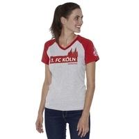 Freizeitshirt Rot Grau Frauen (2)