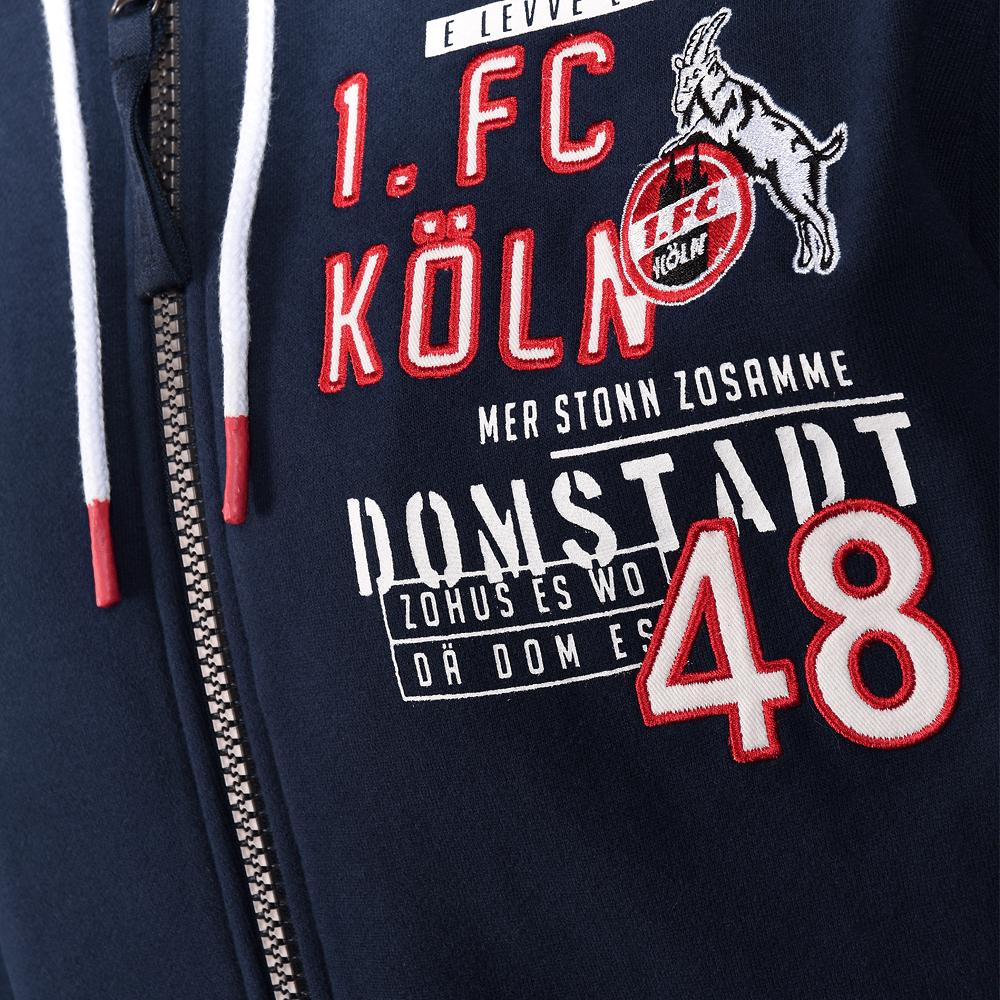 1 FC K/öln Kapuzensweatjacke Jacke Sweatjacke OSTERMANNPLATZ