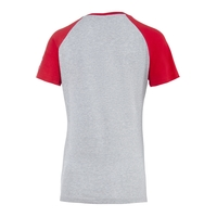 Freizeitshirt Rot Grau Frauen (5)