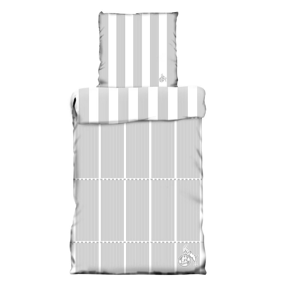 bettw sche grau wei gestreift zuhause unterwegs bett bad jetzt im fanshop bestellen. Black Bedroom Furniture Sets. Home Design Ideas