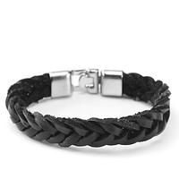 Armband Herren schwarz silber (4)